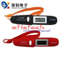 by dhl or ems 200pcs  Non-Contact LCD IR Infrared Pocket Digital Pen Thermometer DT8220Free shipping