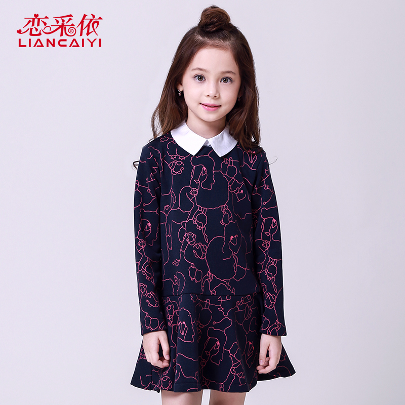 Liancaiyi Girls Dresses Casual Clothing 2017 Spring Princess Dress Kids Long Sleeve Dress Girl Children Patten Fashion Clothing<br><br>Aliexpress