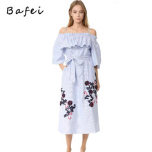 2017 New Arrival Young Girl Summer Long Floral Dress With Pocket For Ladies Party Casual Cute Dresses Cheap BF-D0075