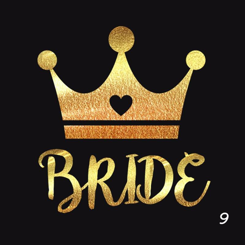 1Pc Bride Temporary Tattoo Bachelorette Party bride Flash Tattoos Creative Gold Bridesmaid bridal shower wedding decoration Z3 10