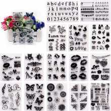 Alphabet Transparent Silicone Clear Rubber Stamp Sheet Cling Scrapbooking DIY