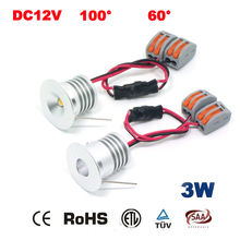 20PCS 3W 23mm 240Lm 12V 24V LED Downlight CE RoHS Mini Spot Lamp Home Interior Decoration Lighting Room 3 Year Warranty(China)