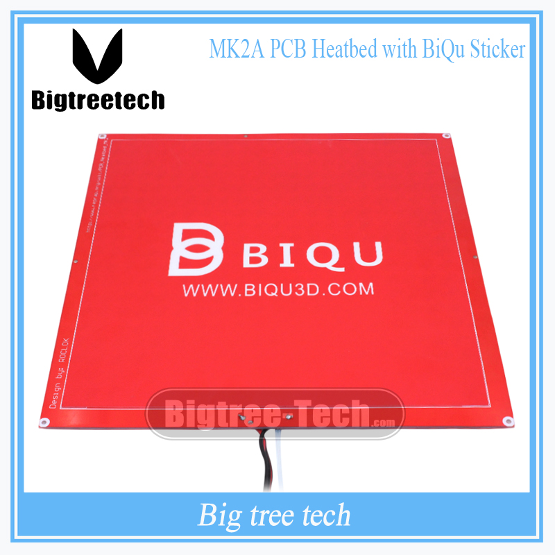 3D Printer Ramps 1.4 Patrts MK3 300*300*2mm Red PCB MK2A Heatbed with Cable&amp;Resistance+Red 3D Printer MK2A BIQU Sticker<br>