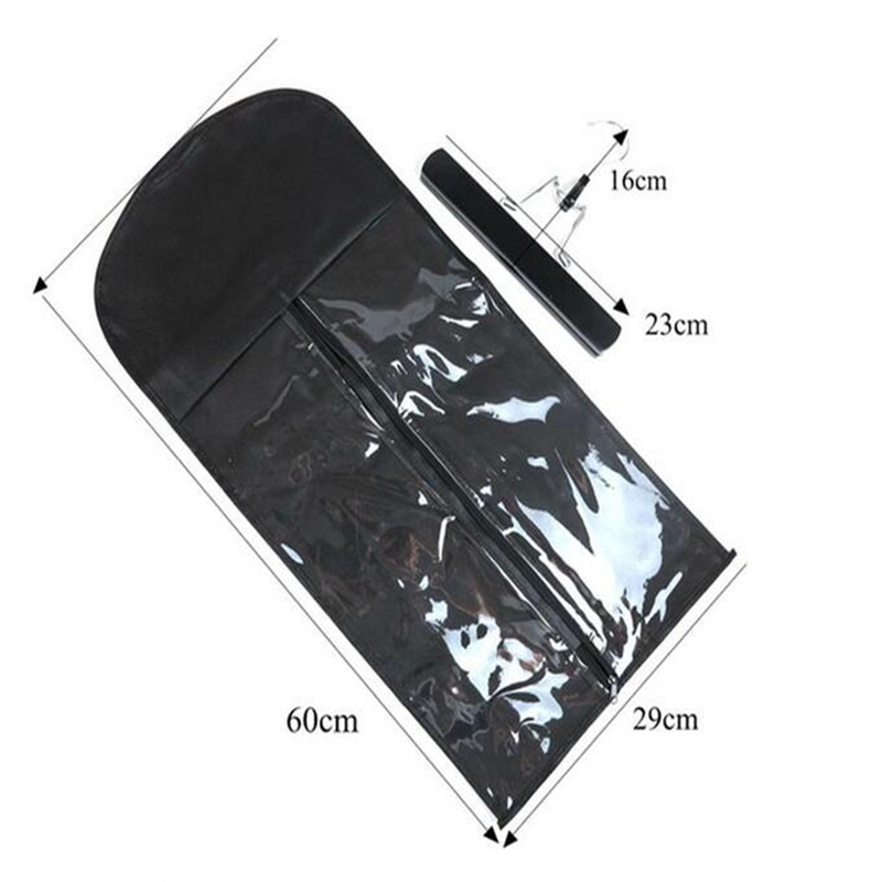 black hair extension packaging suit case bag zipper hanger