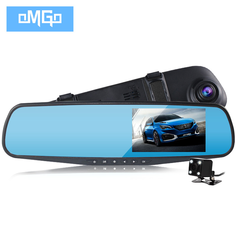 dual lens car camera rearview mirror full hd 1080p night vision auto dvrs cars dvr parking video recorder registrator dash cam(China)