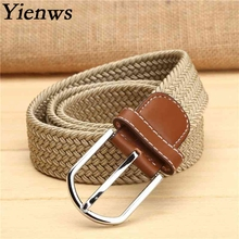 Yienws Elastic Woven Boy Belts For Jeans Children's Belt Western Cowboy Belt B012