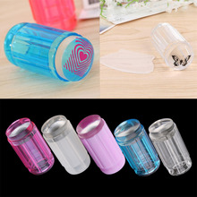 DIY Jelly Nail Art Stamping Clear Soft Silicone Stamper Scraper Plate Set Hot Selling(China)