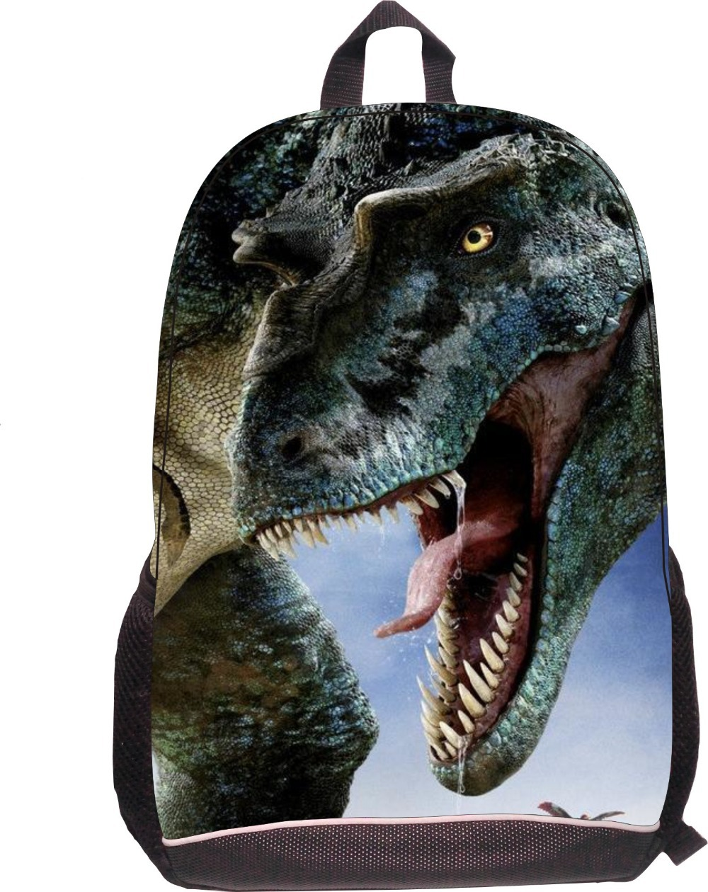 New! large zipper polyester dinosaur 16 inch school bags for kids child backpack bag wholesaler from xia men<br><br>Aliexpress
