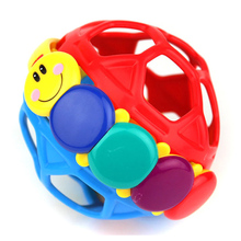 Bendy Ball Early Learning Baby Toy Rattles Ring Bell Toddler Fun Colorful Plastic Walker Rattle Educational Intelligence Develop