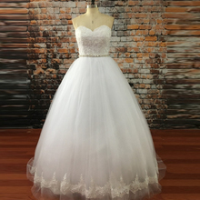 Buy Real Picture Wedding Dress 2017 Vestido De Noiva Lace Open Back Tulle Wedding Gown Sweep Train Sexy Bridal Gowns Robe De Mariee for $131.09 in AliExpress store