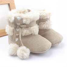 Hot Sell Infant Keep Warm Shoes Newborn Toddler Baby Winter Boots Snow Shoes Bebe Zapatos Winter First Shoes for Gilrs