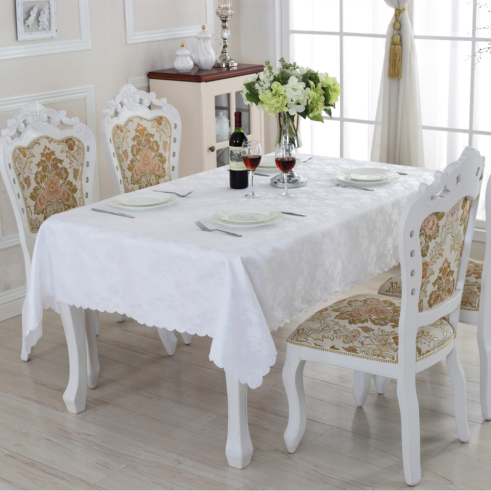 2016 New Waterproof Oilproof Table Cloth High Quality Pure White Tablecloth  Apply Outdoor Home Hotel Banquet ZM 14