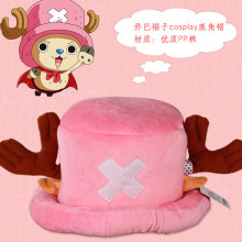 Top Anime ONE PIECE cos Tony Tony Chopper cosplay cute hat pink and rose Red color man and woman sweet cos Coral cashmere hat(China)