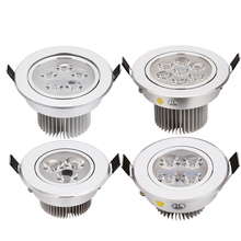 2pcs/lot best price CREE 3W 4W 5W 7W led downlights Recessed AC85-265V silver shell cold white warm white(China)