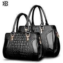 EB brand 2017 Large / small capacity alligator handbag for women leather messenger bags bolsas de couro high quality sac a main