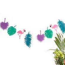 Flamingos Coconut Leave Garland Banner Decor Birthday Party Decor Bachelorette Hen Party Decor Wedding Party Supplies