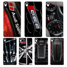 Audi RS4 RS6 RS7 RS8 White Phone Case Cover for Sony Xperia Z1 Z2 Z3 Z4 Z5 M4 Aqua C4 XA XZ E4 E5 L36H