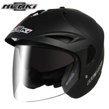 NENKI Motorcycle Helmet Open Face Vintage Style Motor Scooter Cruiser Touring Chopper Helmet with Dual Visor Sun Shield Lens 629(China)