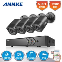 ANNKE 8CH HD-TVI 1080P Lite CCTV Security System DVR and (4) 720P 1280TVL Outdoor Weatherproof Video Surveillance Camera Kits