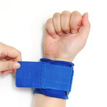 New Blue Neoprene Wrist Palm Thumb Support Adjustable Strap Brace Sport(China)