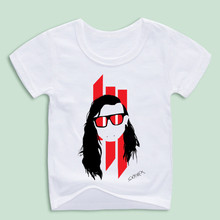 Ready Stock,Children THE DJ Skrillex OWSLA T-shirts Boy and Girl Music Tops Tee Baby Soft Shirt(China)