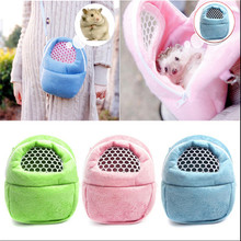 New Hamster Pocket Dog Bag Hamster Rat Hedgehog Chinchilla Ferret Puppy Cat Pet Carrier Pelucia Sleep Hanging Bag For Small Dogs(China)