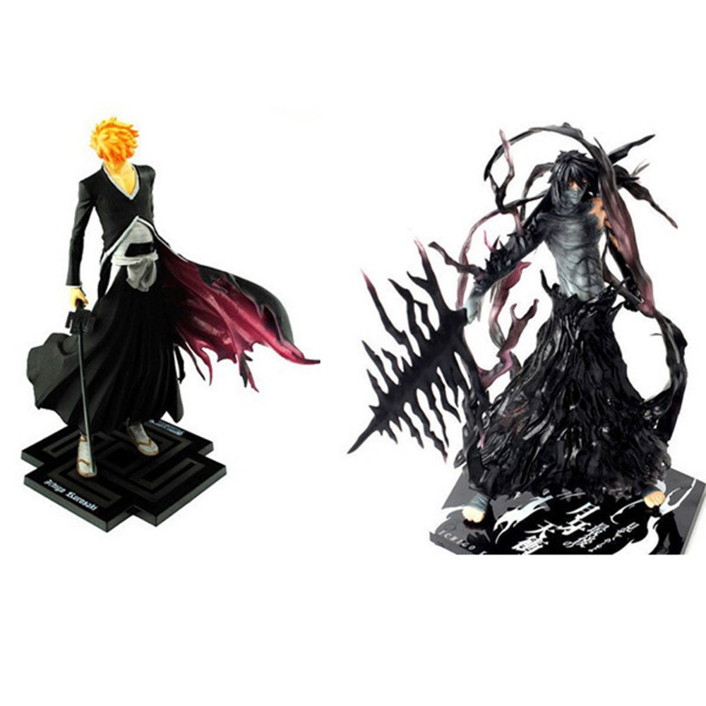 2PCS Set Ichigo Kurosaki Bleach Figure 20cm/8 PVC Figure Free Shipping<br>