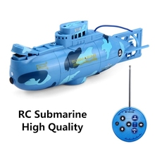 2017 Hot Sale RC Submarine 3CH Remote Control Toys With USB Cable Blue Yellow Children Kids Toy Gift Free Shipping(China)