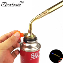 Queshark Butane Burn Blower Welding Outdoor Camping BBQ Brazing gas Torch lighter Flame gun for Kitchen
