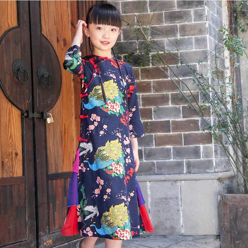 2017 autumn girls dresses toddler baby girls qipao chinese year dress thicker red pink cheongsam sweater dress<br>