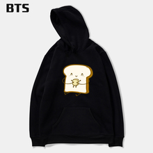BTS Bread And Butter Oversized Hoodie Print Global Sales New European Style Comfortable Brand Fashion Hoodies Sweatshirt Boys(China)