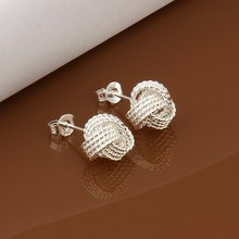 Free Shipping!!Wholesale 925 jewelry silver plated Earring,silver plated Fashion Jewelry,Fashion Tennis Earrings SMTE013(China)