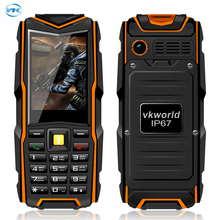 Original VKWorld Stone V3 Mobile Phone Waterproof IP67 Dustproof Dropproof 2.4 inch Dual SIM 5200mAh Russian key 6531CA 64MB