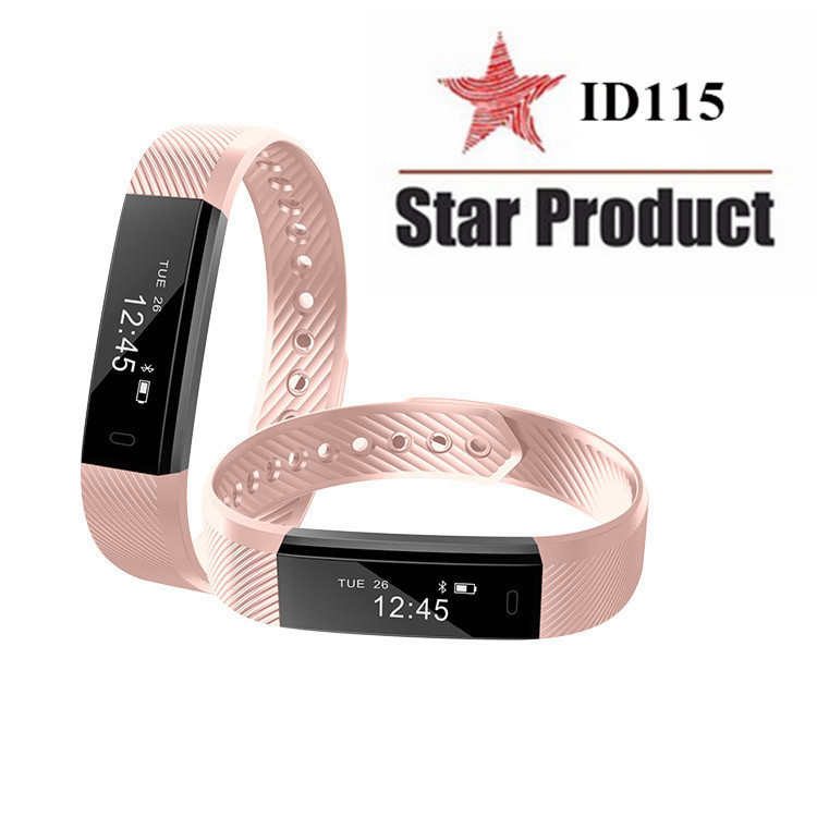 ID115 Smart Bracelet Fitness Tracker Step Counter Activity Monitor Band Alarm Clock Vibration Wristband for iphone Android phone 1
