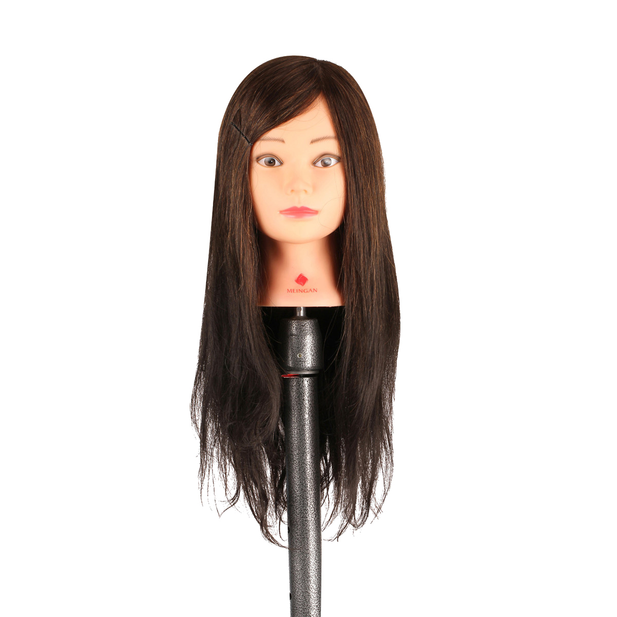 Professional 30% Natural human hair 20 long Mannequin Hairdressing Styling Training Head Mannequin Head with clamp stand<br>