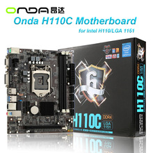 Onda H110C Motherboard Mainboard Systemboard for Intel H110/LGA 1151 mATX SATA USB 3.0 DDR4 Dual Channel for Desktop Computer