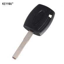 KEYYOU 10PCS/LOT Transponder Key case shell for Ford Fiesta Mondeo Focus C-Max S-Max Galaxy Kuga HU101 Free shipping(China)