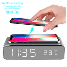 Alarm-Clock Time-Memory Phone wireless-Charger Desktop Digital Electric with LED HD