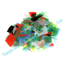 DIY bracelet Confetti Glass 10bags Kiln Confetti Glass scraps COE 90 mixed color Fused Glass for Microwave Kiln glass work(China)