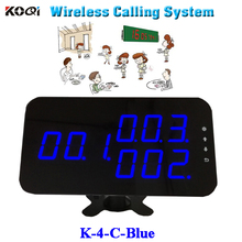 wireless waiter calling system wireless display receiver for restaurant service 3-digit Led monitor K-4-C-blue word show(China)