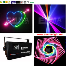 1500MW 3D animation laser lights moving head LED light KTV Bar RGB full color dmx control SHOW Auditorium(China)