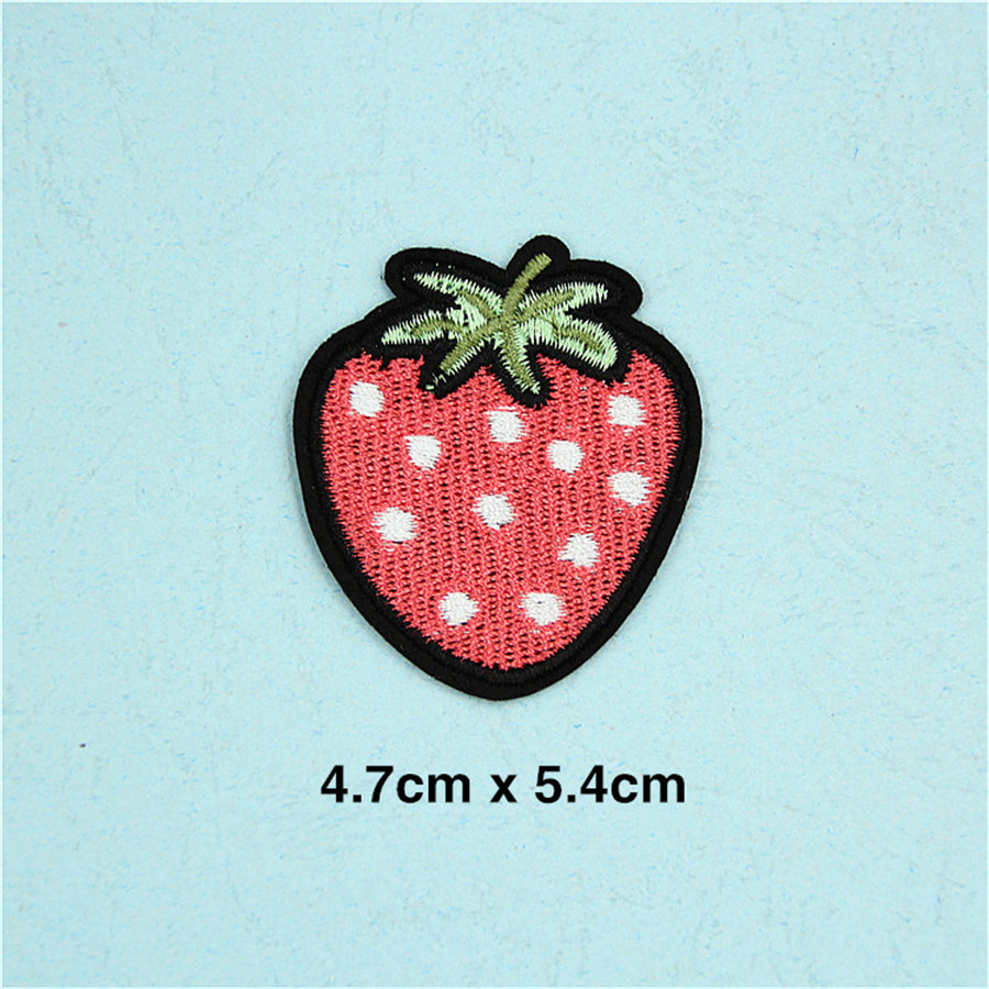 PF Fine Stripe Fruit Patch Pineapple Embroidery Patch for Clothing ...