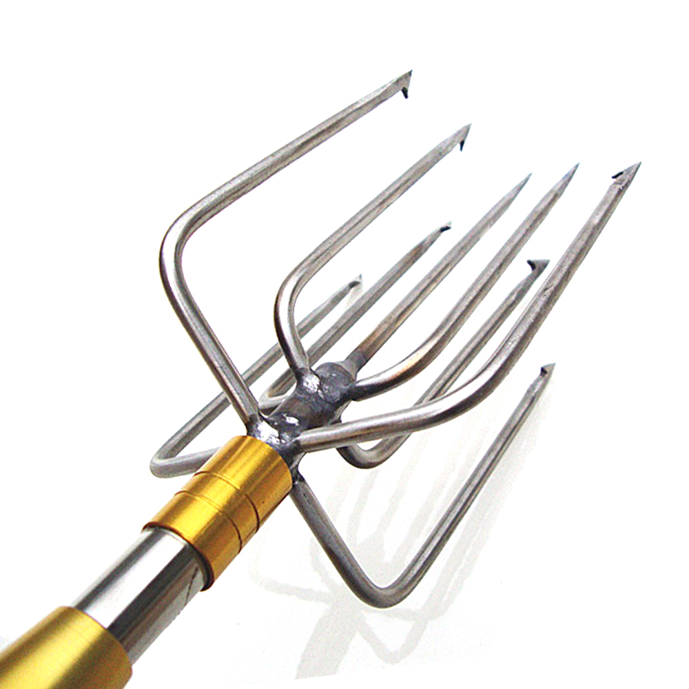 1 piece stainless steel 9 prongs 8mm thread fishing spear head for winter fishing Pike Eel<br>
