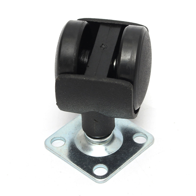 4Pcs/Set 1 Inch Swivel Plate Caster Polyurethane Wheel Chair Table Replacement Black Durable Resistant To Abrasion(China (Mainland))