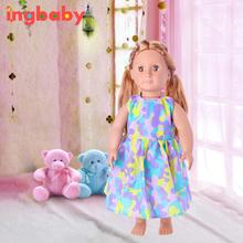 18 Inch American Girl Doll Dress Girl Dress Up Fashion Barbie Doll Princess Skirt Rubber Barbie Doll Accessories ingbaby WJ1173(China)