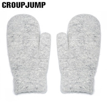 Brand New Knitted Wool Gloves For Women Men Winter Gloves Female Male Thick Cotton Hand Warmer Thick Knit Gloves(China)