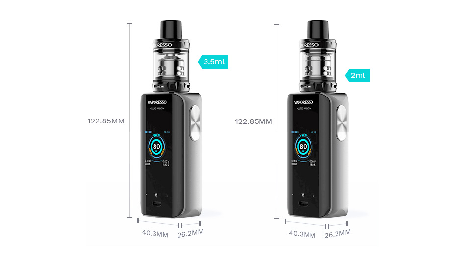 Vaporesso Luxe Nano 80W Touch Screen TC Kit 2500mAh