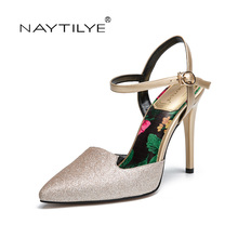 Women's Pumps 2017 Casual ECO Leather PointedToe Spring/Autumn woman shoes Red Gold 36-41 Free shipping NAYTILYE(China)
