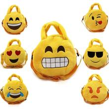 Small Emoji bags for kids Children Face Expression Plush Toys Boys and Girls Animal Messenger Bags Cute Bags Embroidery Gift 45