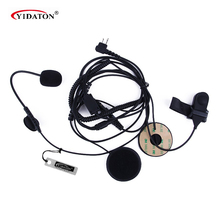 Hot Professional Motorcycle Helmet Headset Earpiece For CB Ham Radio for MOTOROLA 2 PIN Radio GP88s/300/2000 CP040 CT150 XTN466